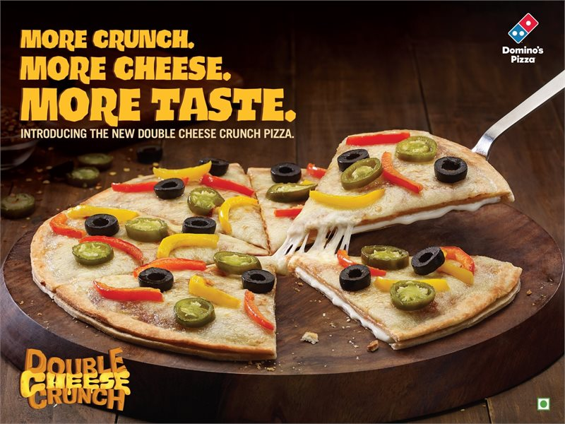 Domino's Introduces Double Cheese Crunch Pizza & Custard Bliss